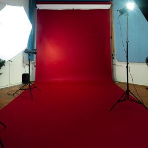 Red Studio Background